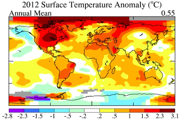 2012 warming trends
