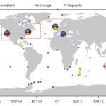 Global imprint of climate change on marine life